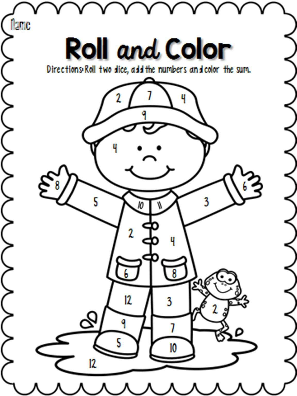 25+ Rain coloring pages for kindergarten information