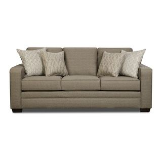 Shop for Simmons Upholstery Seguin Pewter Queen Sleeper Sofa Get