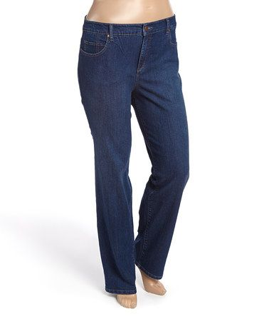 Look what I found on #zulily! Indigo Boot Mandie Short Straight-Leg Jeans - Plus #zulilyfinds