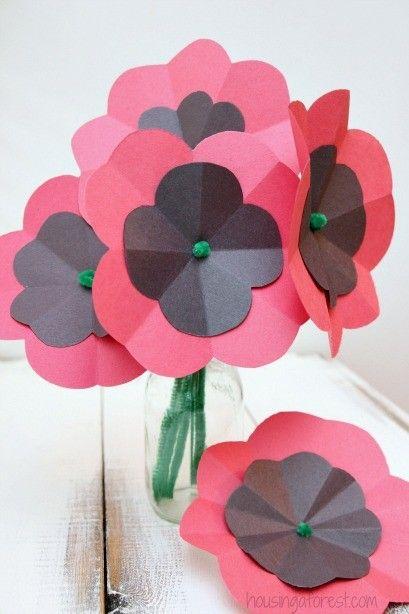 Easy paper poppy flower tutorial remembrance day craft proljece easy paper poppy flower tutorial remembrance day craft mightylinksfo