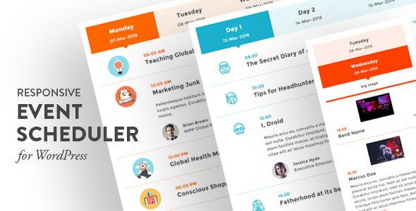 Responsive Event Scheduler for WordPress | Wordpress