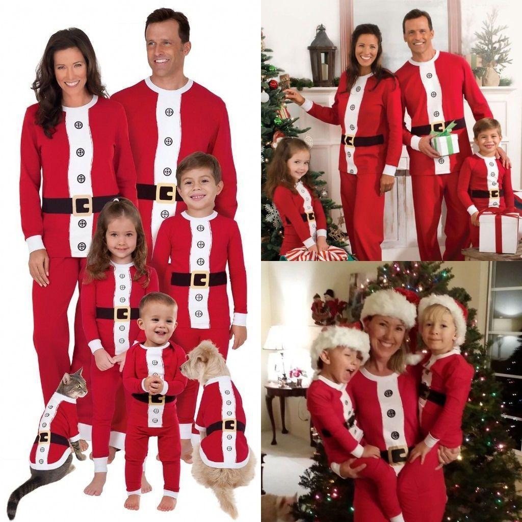 Matching Family Christmas Pajamas Santa Suit for