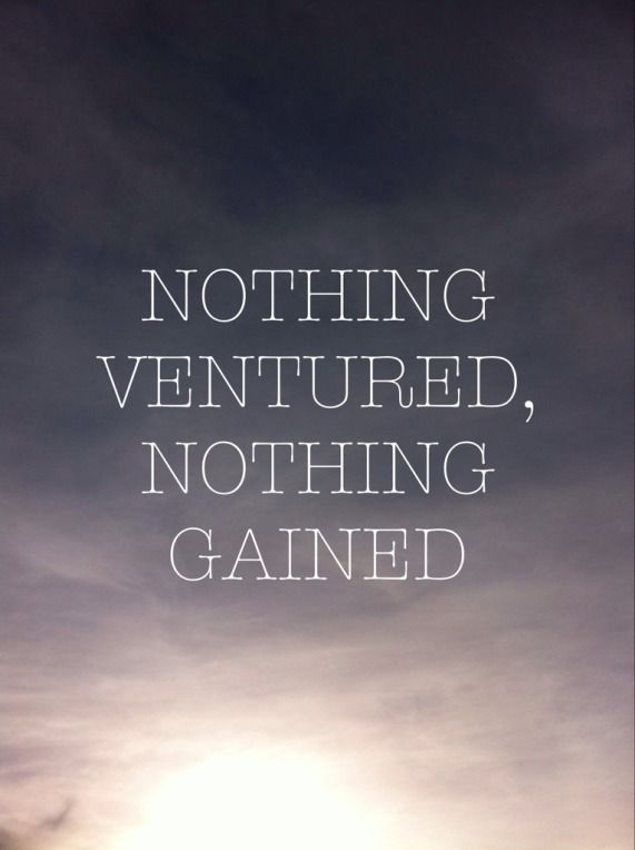 nothing ventured nothing gained meaning