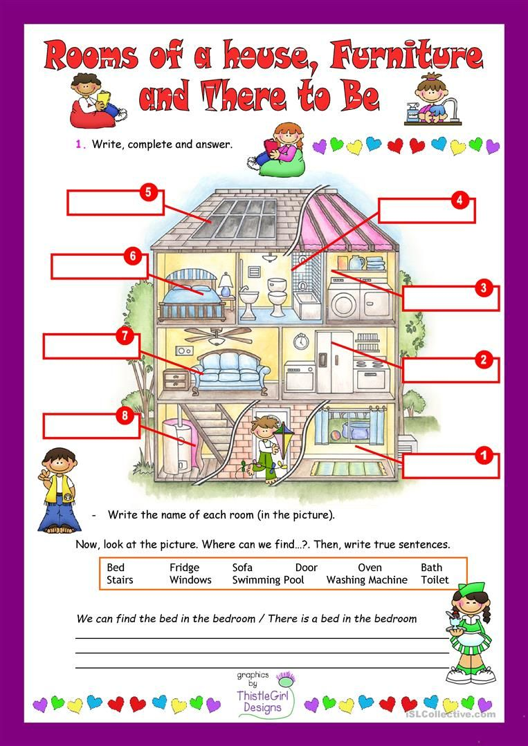 Rooms of a house worksheet - Free ESL printable worksheets ...