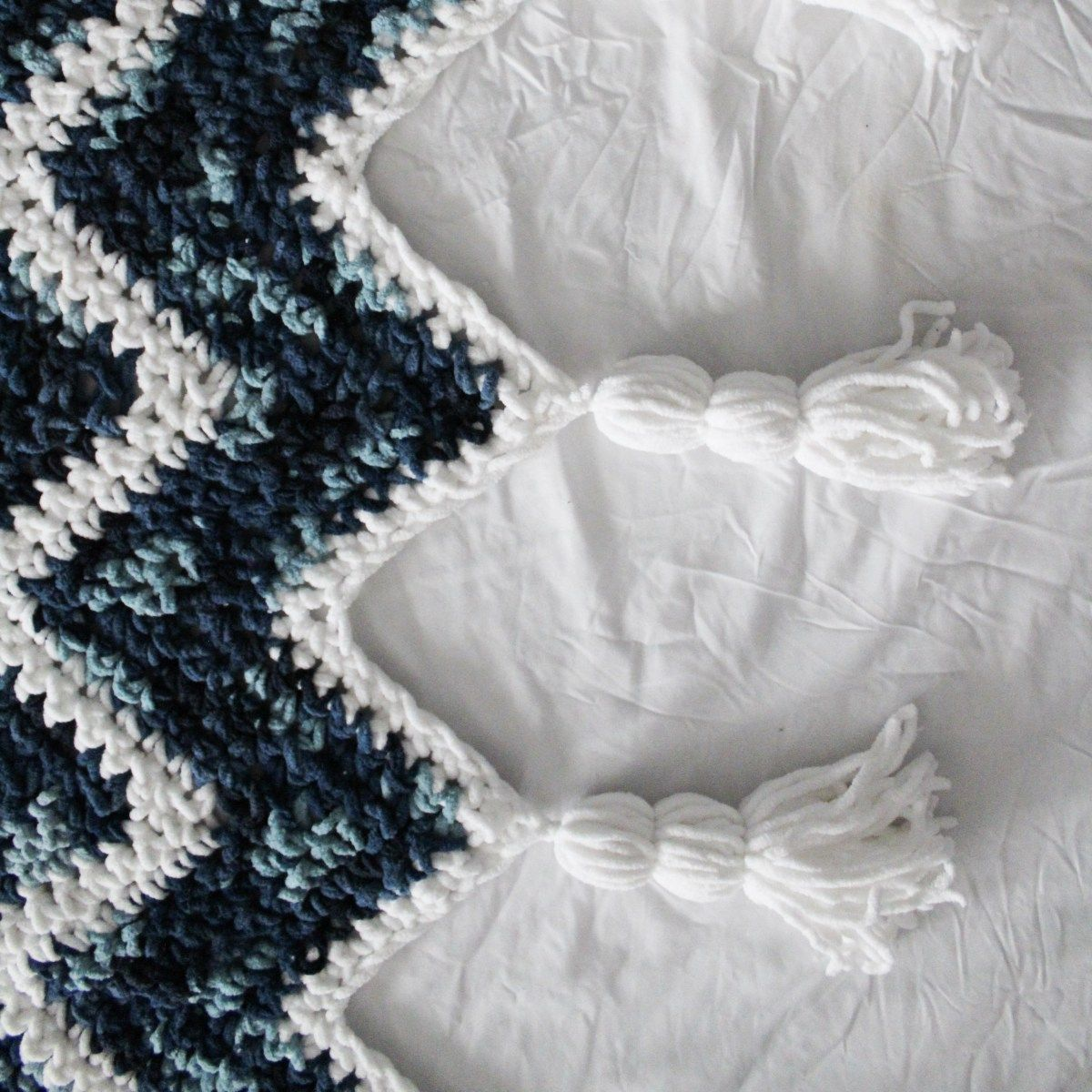 Waterfall Blanket Pattern Using Bernat Blanket Yarn | Blankets/Rugs ...