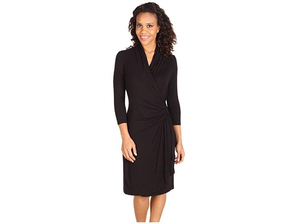 Karen Kane Cascade Wrap Dress Black Womens Dress Bring A Room To