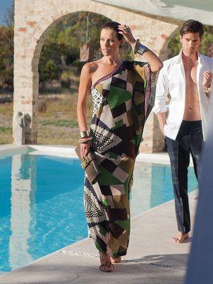 Schnittmuster: One-Shoulder-Kleid - Maxikleid - Abendkleider ...