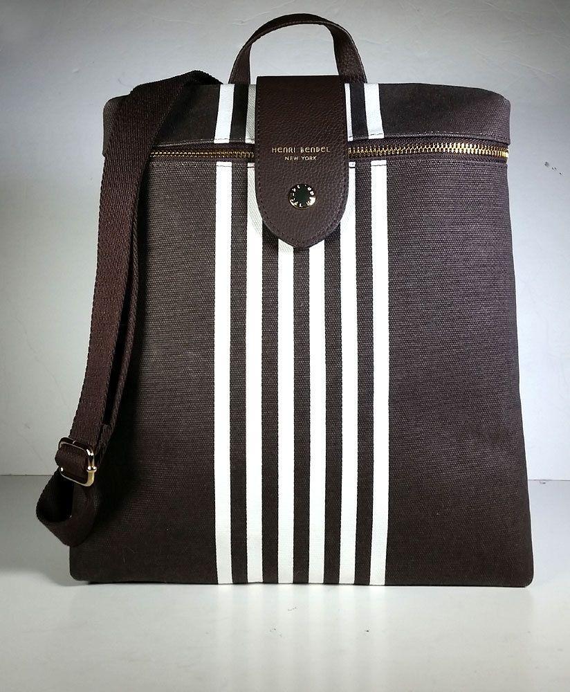 c0c7033b9065 NEW HENRI BENDEL Handbag Crossbody Backpack Convertible VEGAN Brown  PRIMO    HenriBendel  BackpackCrossbodyShoulderBagTote
