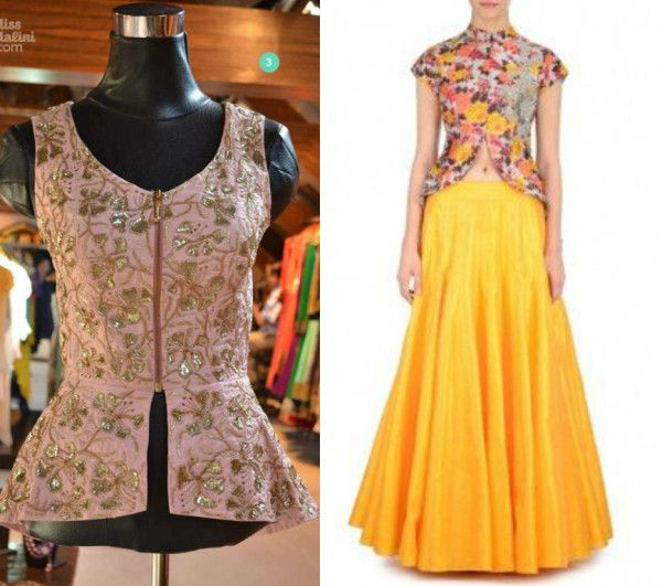 b7197063ace766 Add a twist to your lehengas with peplum blouses