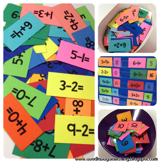 Math Fact Unit - addition and subtraction - flash cards ...