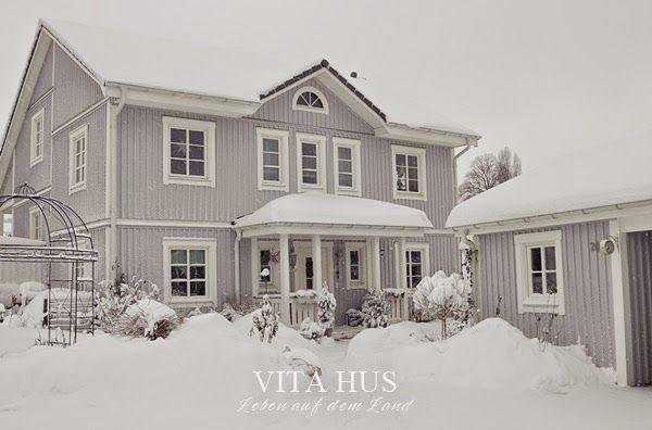 Vitahus Schwedenhaus Im Winter Teil 1 Schwedenhaus Skandinavisches Haus Haus