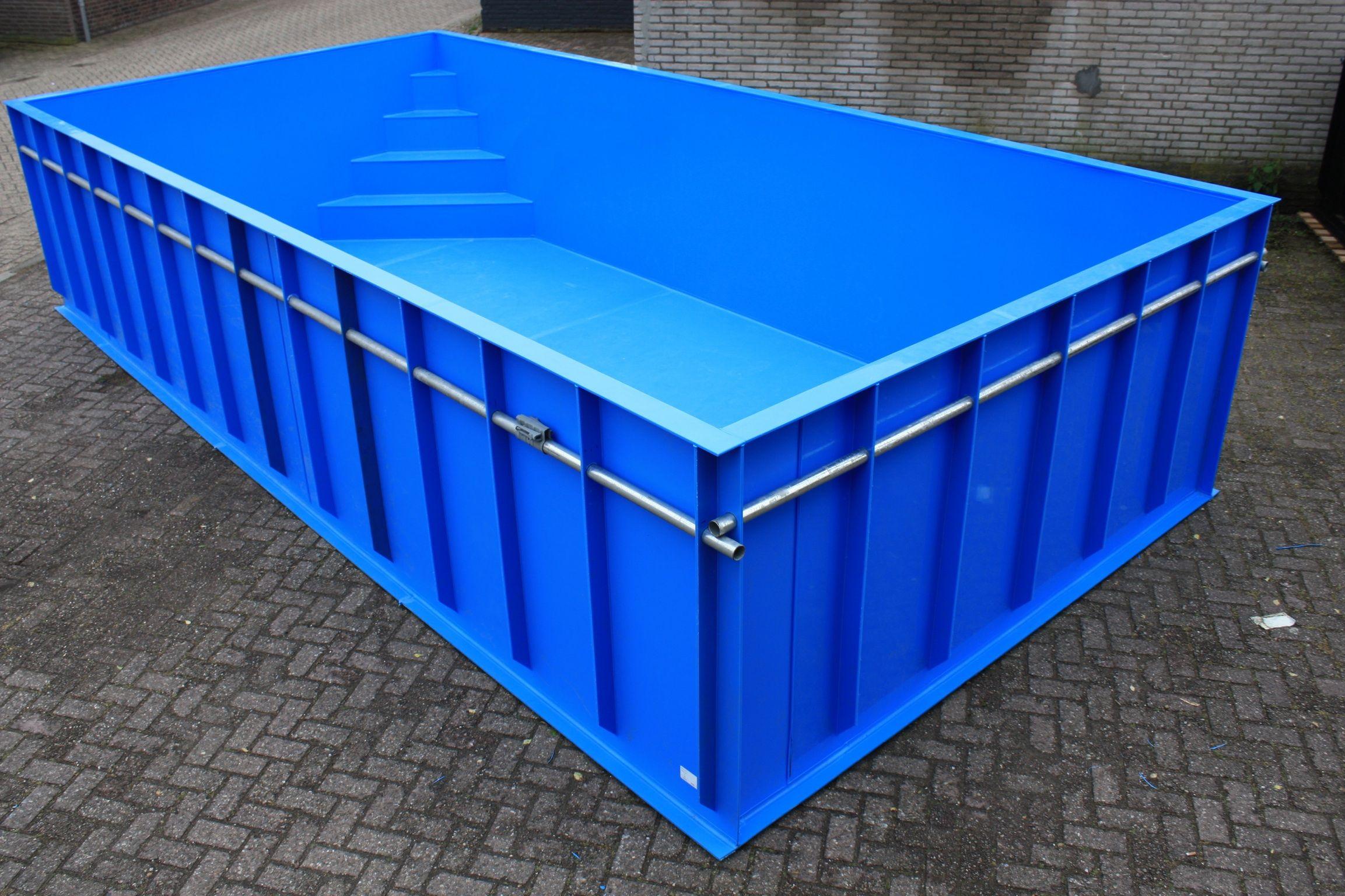Kunststof Zwembad Van 7 5x3 5x1 5 Met Hoektrap Pools For Small