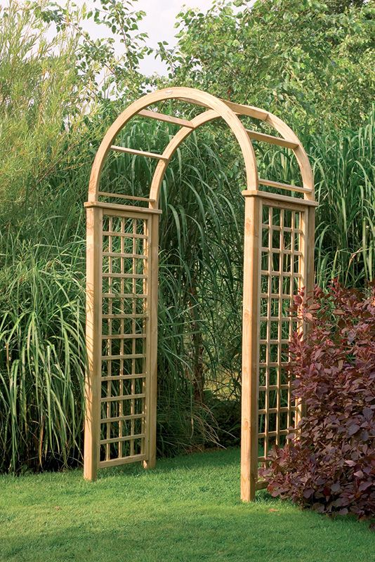 The Forest Garden Florence Trellis Arch Is Ideal For Training Climbing Plants To Add Your Own Distinctive Creation And Style