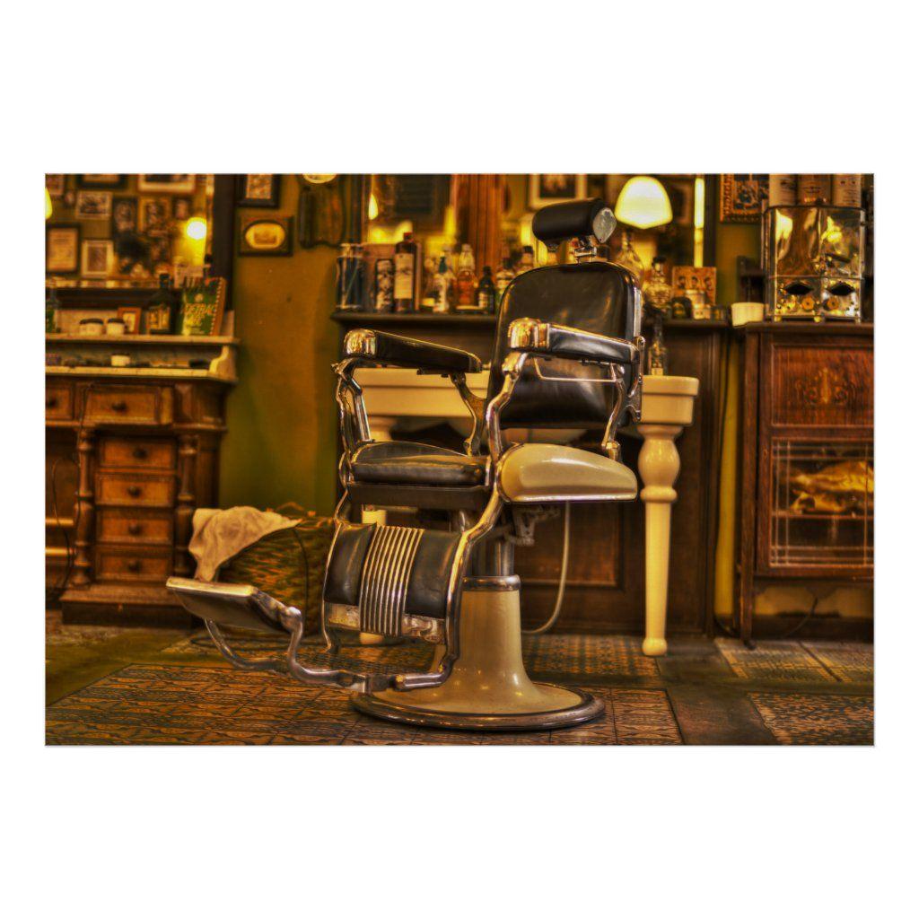 Vintage Barber Shop Retro Hair Salon Poster