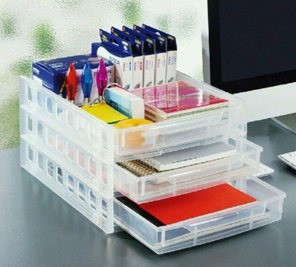 Paper Tray Home Organization Home Planner Paper Organization