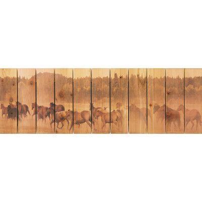 Gizaun Art Wild Horses Photographic Print Size: 20 H x 62 W