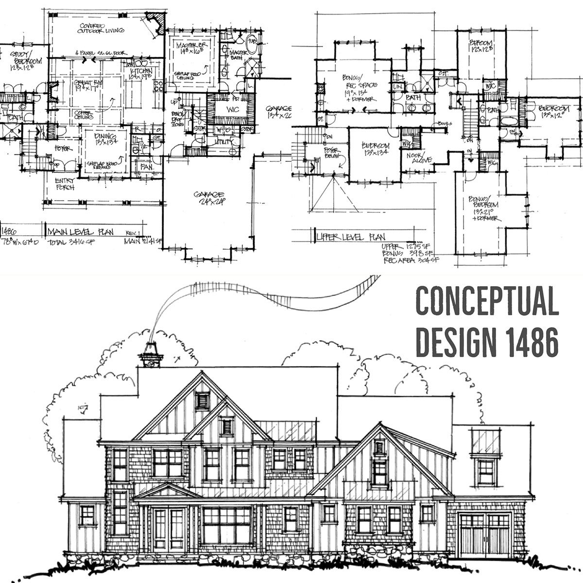 House Plan 1486: Modern Two-Story