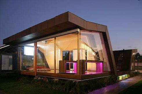 Einzelne-braun-Haus-modern-Architektur