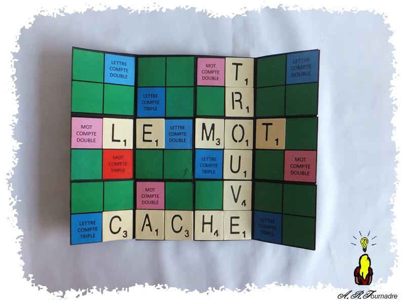 Carte En Pas A Pas Carte A Message Secret Facon Scrabble Les Passions D Art Message Secret Carte Cartes