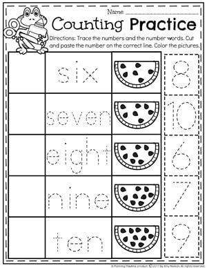 number worksheets learning for kindergarten counting worksheets for kindergarten preschool. Black Bedroom Furniture Sets. Home Design Ideas