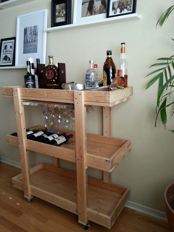16 Great Diy Small Home Bar Ideas For The Next Party Wood Project