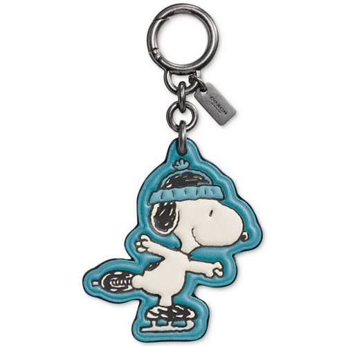 Blue Peanuts Snoopy Key Chain  Key Fob on Blue Background made with Optional Initials