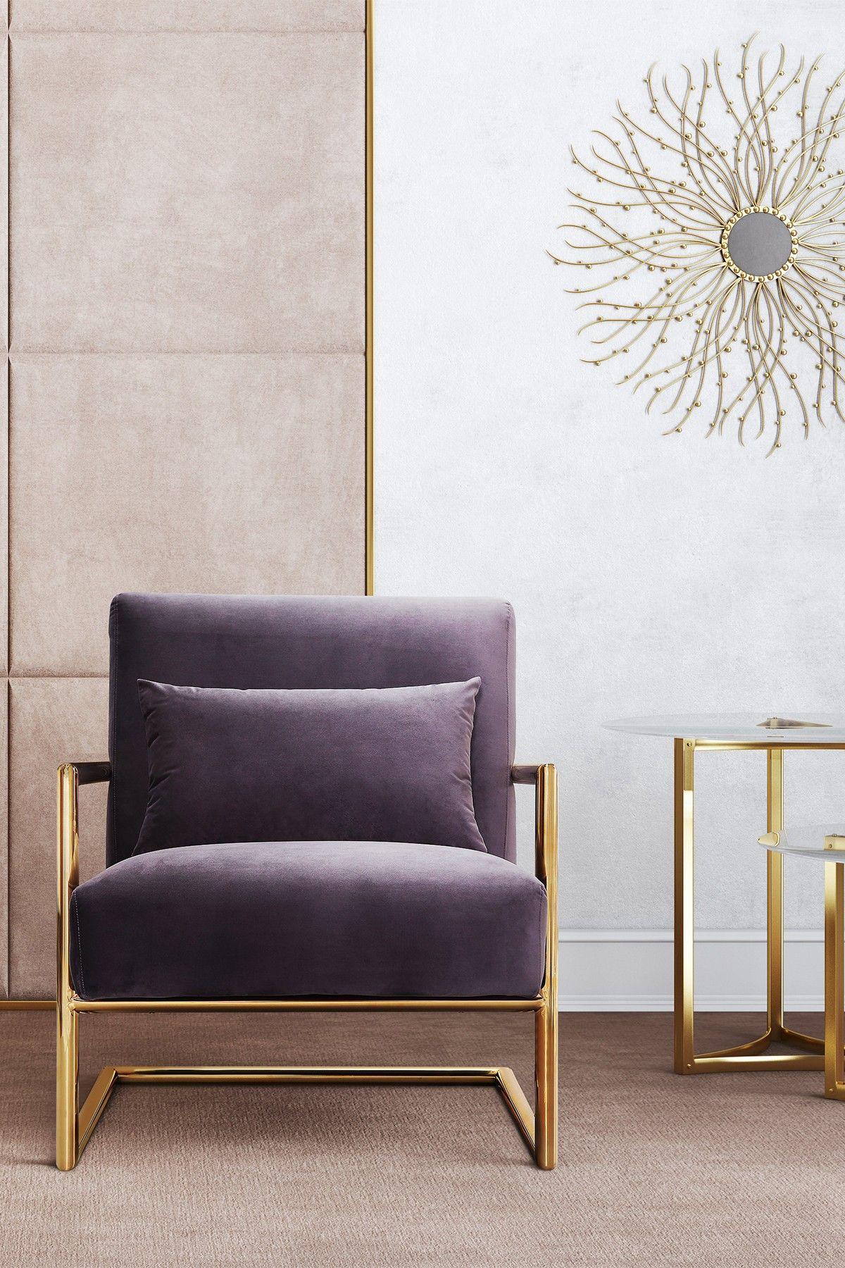 Merveilleux Elle Grey Velvet Chair By TOV Furniture On @HauteLook