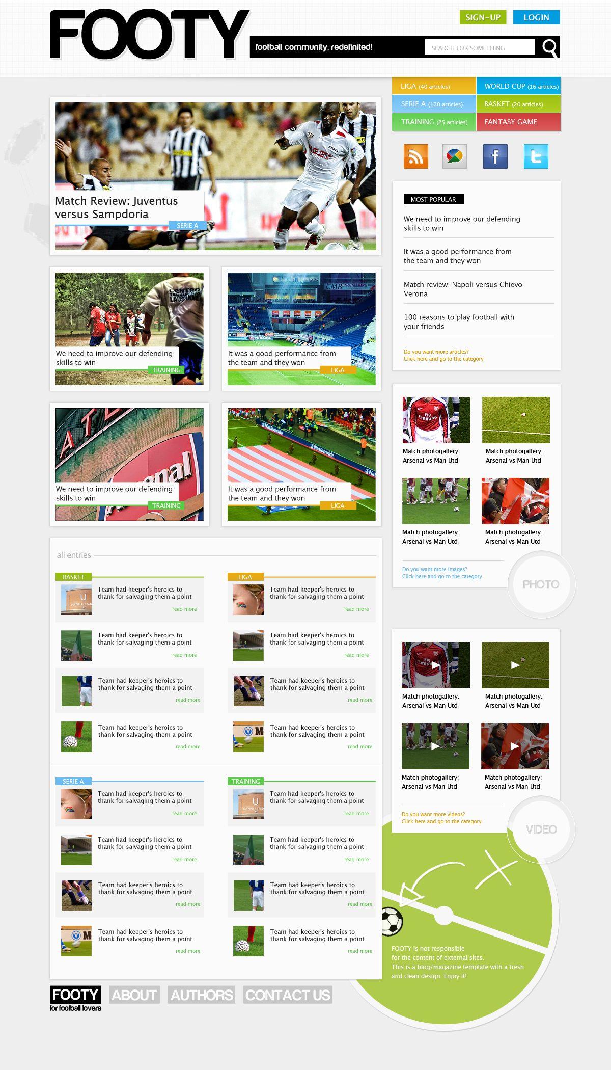 Super professional web design web design and development design a clean sports magazine style web layout with photoshop photoshop tutorials baditri Choice Image