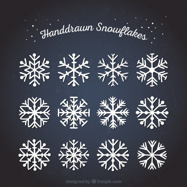 Photo of Download Hand Drawn Abstract Snowflakes for free
