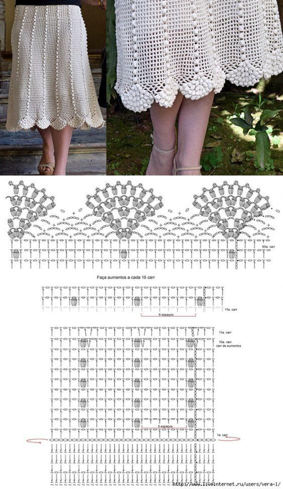 06d0efa38 bella falda tutorial-esquema-patron-crochet-otakulandia.es (17 ...