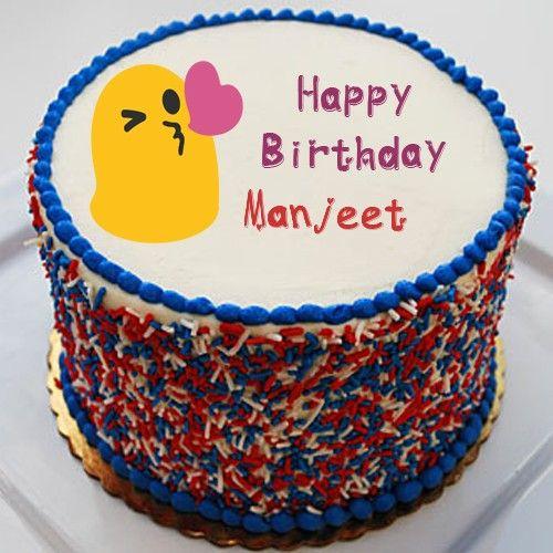 Write My Name On Kiss Heart Special Birthday Emoji Cake