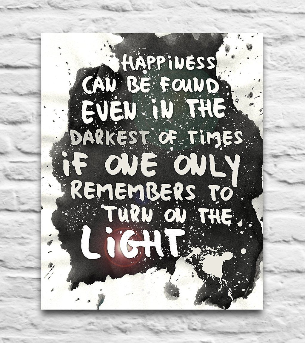 Harry Potter Movie Light Quote inspired watercolor