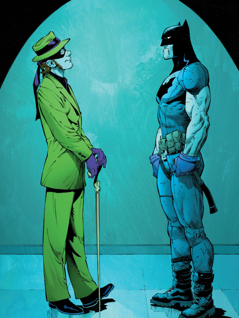 Batman meets the Riddler for the first, Zero Year,agreeing tale by ...