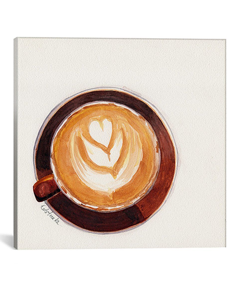 Set Of 3 Coffee Cup Canvas Wraps: Take A Look At This Red Coffee Cup Gallery-Wrapped Canvas