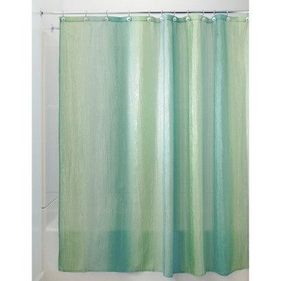 InterDesign Ombre Shower Curtain   Blue/Green. $24 @target.com. 100