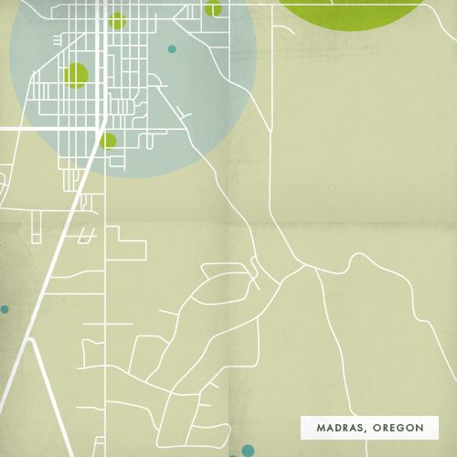 Map Of Madras Oregon Showing Transportation Green Spaces And