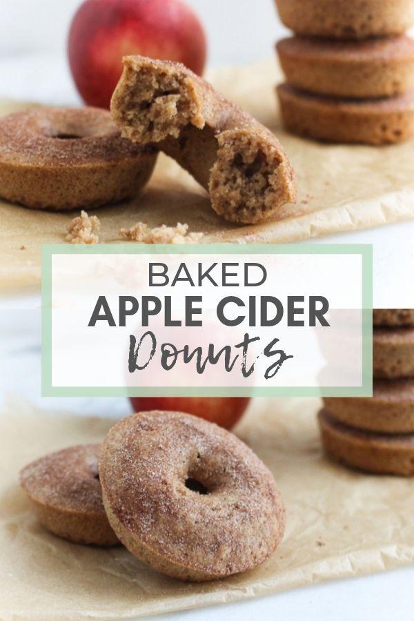 Baked Apple Cider Donuts - Chef Julie Harrington, RD @ChefJulie_RD #donuts #dessert #healthydessert #wholegrain #applecider #appleciderchicken