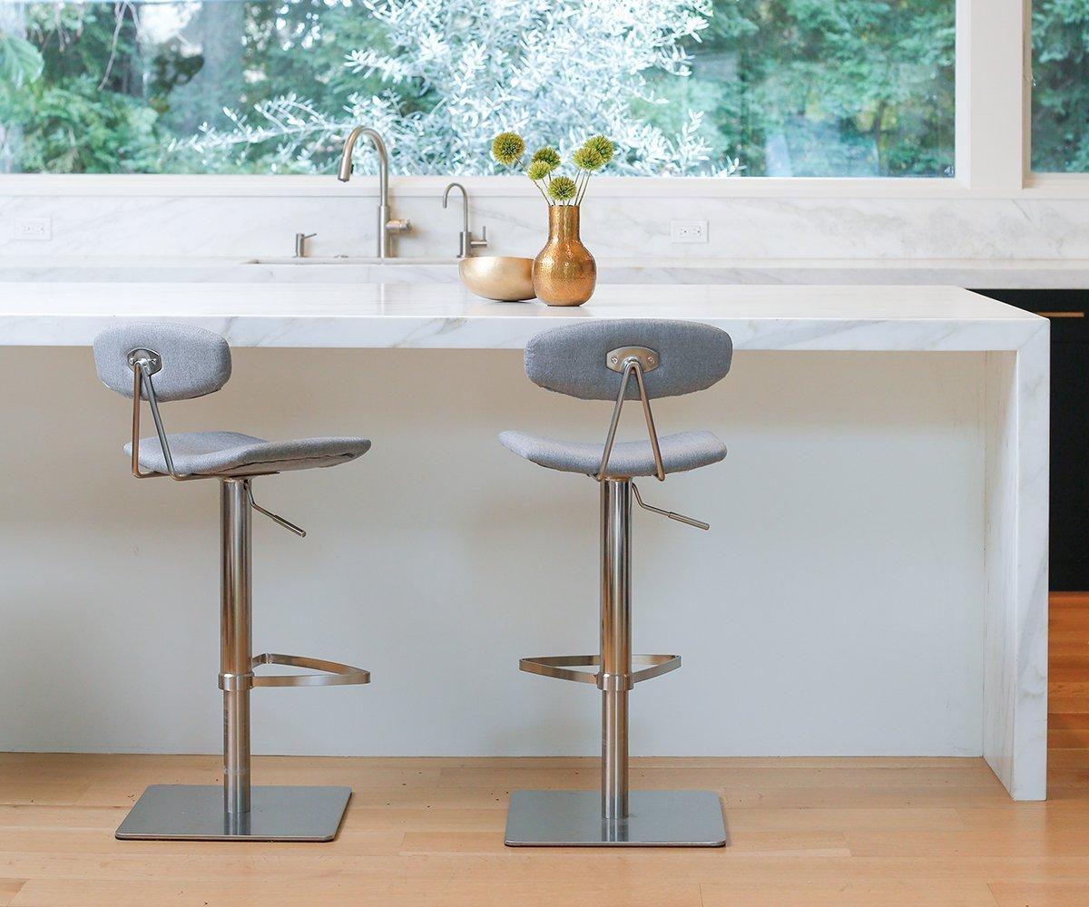 Lena Fabric Adjustable Counter And Bar Stool Bar Stools Stool