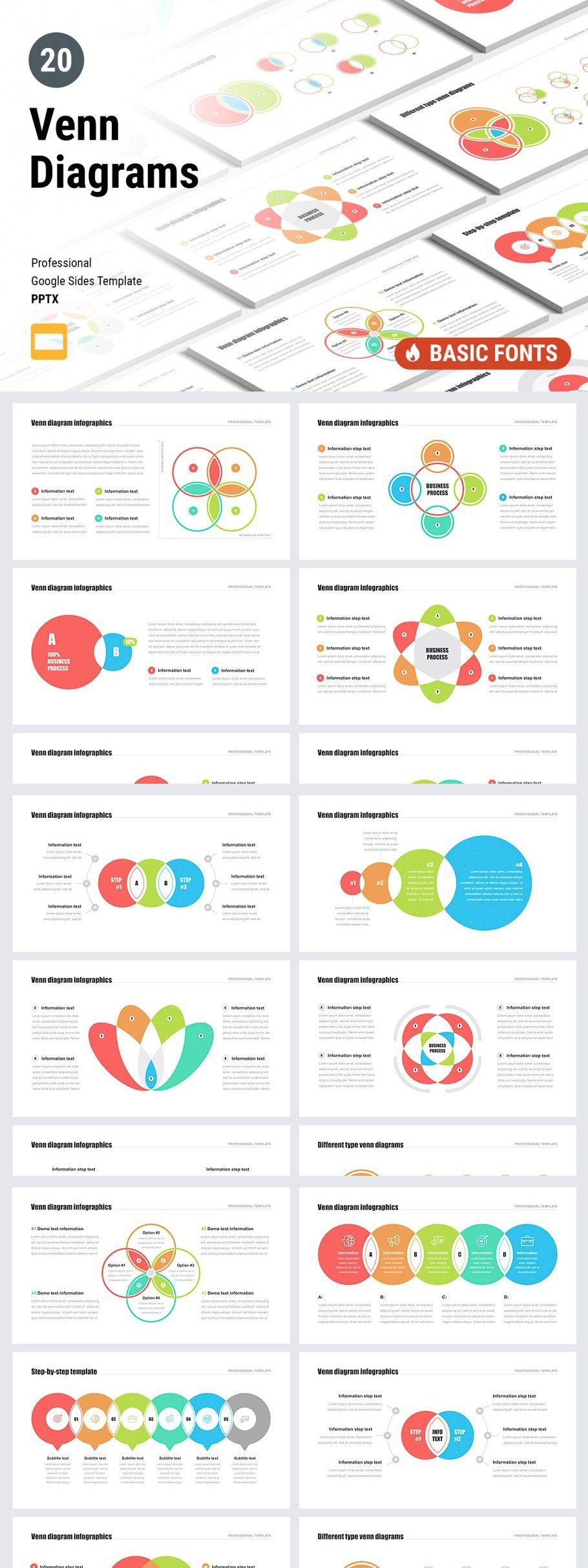 Venn Diagrams Pack for Google Slides in 2020 | Google ...