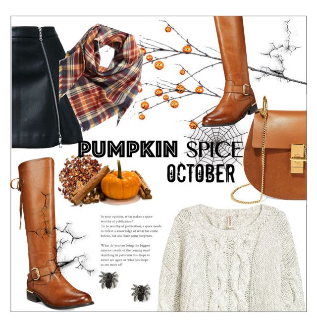 """Pumpkin spice"" by smallbeautymonsters ❤ liked on Polyvore featuring Improvements, Guild Prime, Chloé, Wanted, BP., Halloween, orange, women and pumpkinspice"