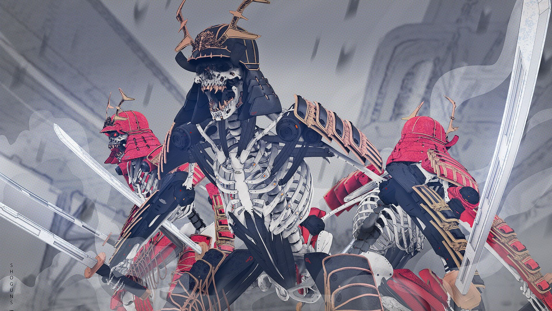 обои на пк самураи каждой игры есть