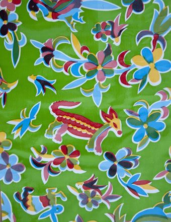 mexican oil cloth - how awesome to make big floor pillows...