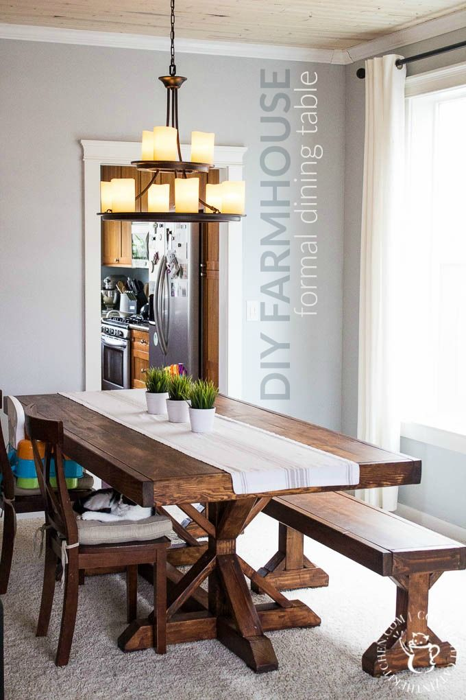 We Decided To Try This DIY Farmhouse Formal Dining Table Project Despite Having No Experience With Building