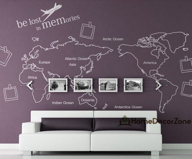 World map wall decal map wall sticker photo frame by homedecorzone world map wall decal map wall sticker photo frame by homedecorzone 4998 gumiabroncs Gallery