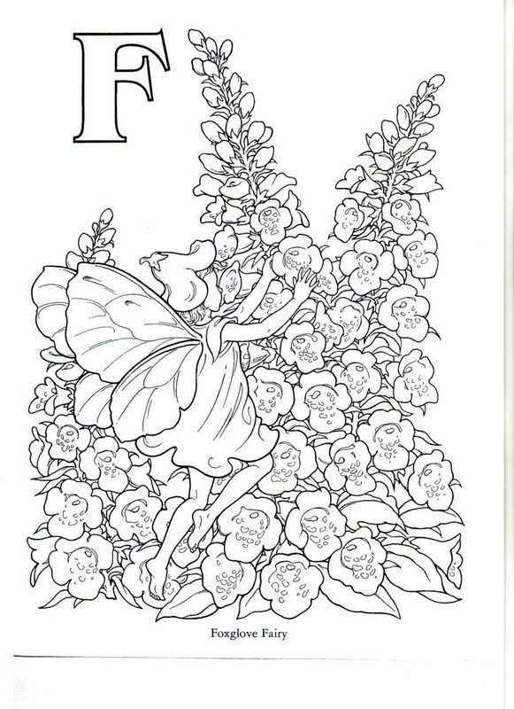 flower pixies coloring pages - photo#24