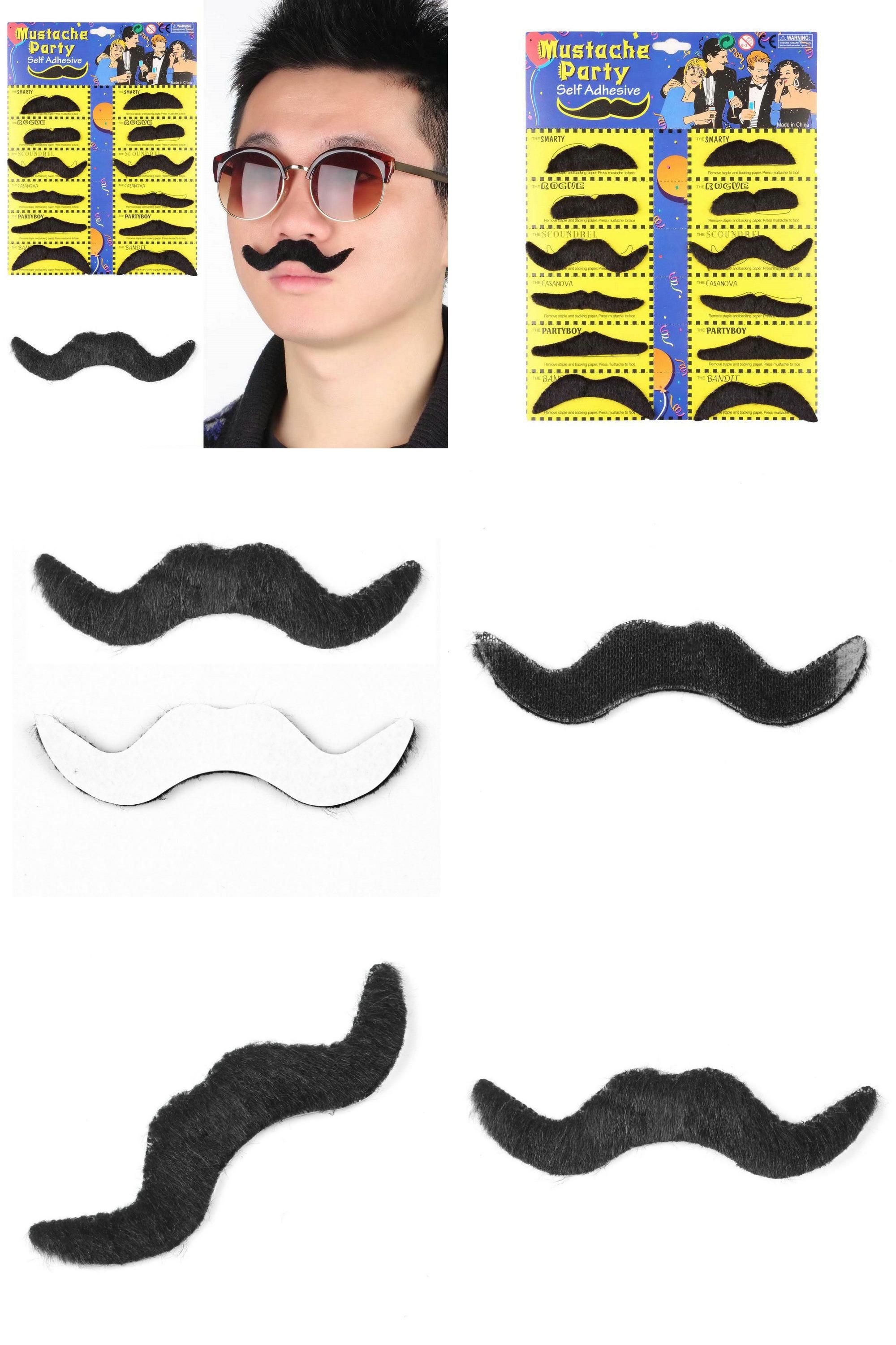 Character Beard W// Tash False Tash Moustache Facial Hair Fancy Dress