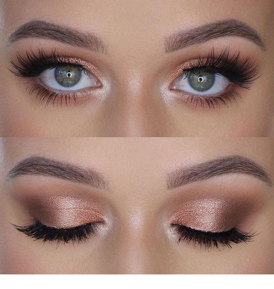 Adoro questo trucco per gli occhi in oro rosa | Inspiring Ladies #EyeMakeupLooks - Le mie idee
