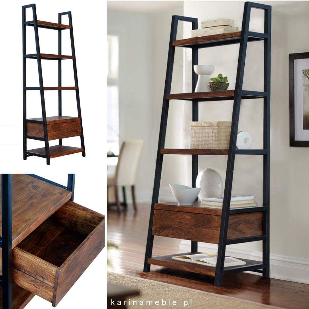 Biblioteczka Drabina Organic Loft Zrobiona Jest Z Drewna Akacji Indyjskiej Specjalnie Wyselekcjonowanego Tak Aby Naturalny Ks Home Decor Decor Loft Lighting