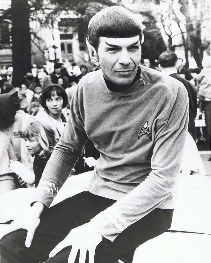 Leonard Nimoy and his only public appearance as Spock -- in Medford