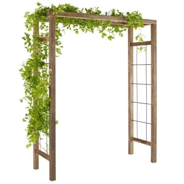 Pergola De Jardin Ikebana Arche De Jardin En Bois Traite Et Teinte Arche Jardin